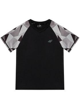 4F 4F T-Shirt HJL21-JTSM014A Czarny Regular Fit