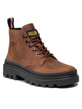 Palladium Palladium Outdoorová obuv Pallatrooper Hi-3 77203-214-M Hnedá