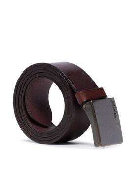 Wrangler Wrangler Pánský pásek Palate Buckle Belt W0E3U1X85 Hnědá
