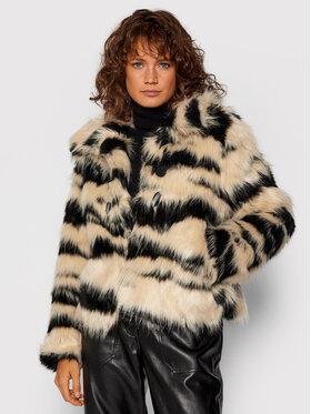 Desigual Desigual Кожено палто Li 21WWEWAF Бял Regular Fit