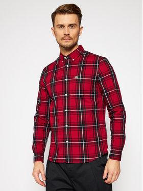 Lacoste Lacoste Koszula CH5349 Bordowy Regular Fit