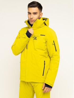 Salomon Salomon Lyžařská bunda Brilliant LC1192200 Žlutá Regular Fit