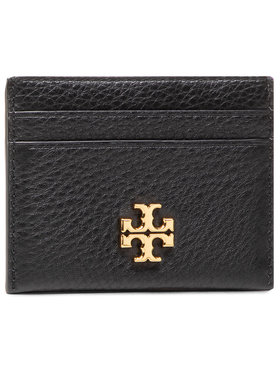 Tory Burch Tory Burch Custodie per carte di credito Kira Pebbled Card Case 74884 Nero