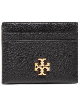 Tory Burch Tory Burch Kreditinių kortelių dėklas Kira Pebbled Card Case 74884 Juoda
