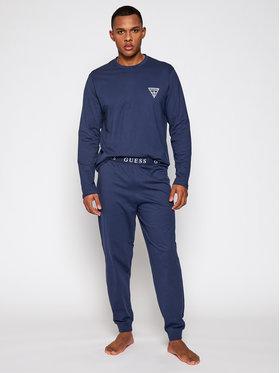 Guess Guess Pižama U0BX00 K8HM0 Tamsiai mėlyna Regular Fit