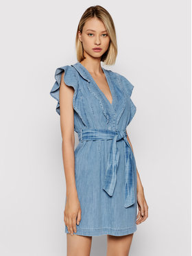 Rinascimento Rinascimento Džínové šaty CFC0103239003 Modrá Regular Fit