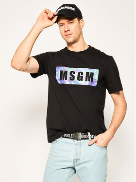 MSGM MSGM T-Shirt 2840MM234 207098 Schwarz Regular Fit