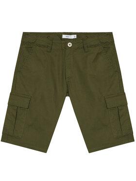 NAME IT NAME IT Szorty materiałowe Ryan 13185218 Zielony Regular Fit