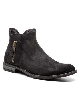 Gino Rossi Gino Rossi Kotníková obuv s elastickým prvkem Aldo MBV257-S53-5700-9900-F Černá