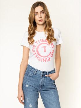 Trussardi Jeans Trussardi Jeans Marškinėliai 56T00245 Balta Slim Fit