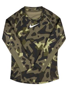 Nike Nike Тениска от техническо трико BV4407 Зелен Regular Fit