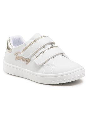 Tommy Hilfiger Tommy Hilfiger Sneakersy Low Cut Velcro Sneaker T1A4-31017-1189 S Bílá