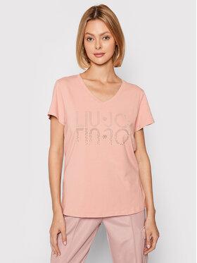 Liu Jo Sport Liu Jo Sport T-Shirt TF1217 J9944 Różowy Regular Fit