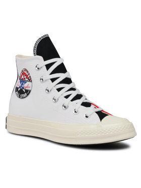 Converse Converse Plátěnky Chuck 70 Hi 166747C Bílá