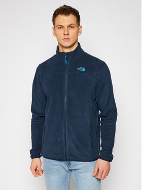 The North Face The North Face Polar 100 Glacier Full Zip NF0A2UAQH2G1 Granatowy Regular Fit