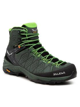 Salewa Salewa Chaussures de trekking Ms Alp Trainer 2 Mid Gtx GORE-TEX 61382-5322 Vert