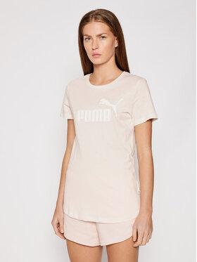 Puma Puma T-Shirt Essential Logo Heather 852127 Růžová Regular Fit