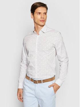 Calvin Klein Calvin Klein Koszula Printed Stretch K10K107344 Biały Slim Fit