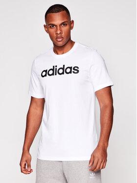 adidas adidas Marškinėliai Essentials Linear Logo DQ3056 Balta Standart Fit