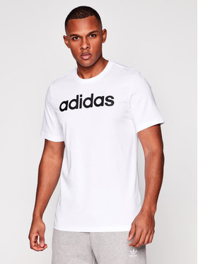 adidas adidas Tricou Essentials Linear Logo DQ3056 Alb Standart Fit