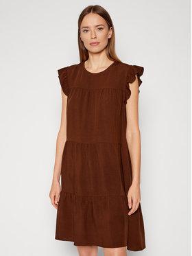Rinascimento Rinascimento Літнє плаття CFC0103416003 Коричневий Regular Fit