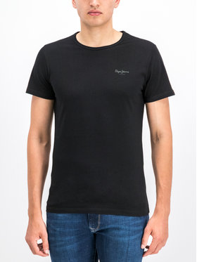 Pepe Jeans Pepe Jeans T-Shirt Orginal Basic PM503835 Černá Slim Fit