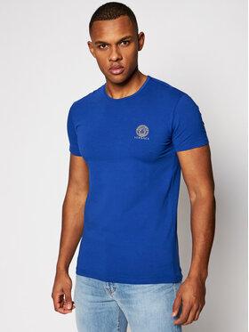 Versace Versace T-Shirt Medusa AUU01005 Niebieski Regular Fit