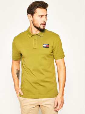 Tommy Jeans Tommy Jeans Tricou polo Tjw Badge DM0DM07456 Verde Regular Fit
