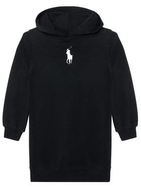 Polo Ralph Lauren Polo Ralph Lauren Každodenné šaty Hood Flc Drs 313837221008 Čierna Regular Fit