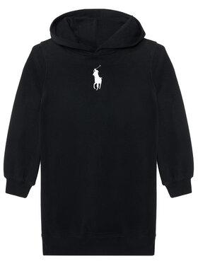Polo Ralph Lauren Polo Ralph Lauren Kleid für den Alltag Hood Flc Drs 313837221008 Schwarz Regular Fit