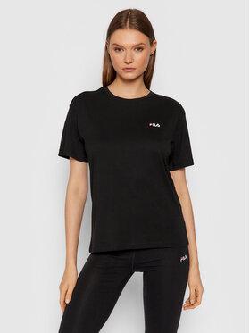 Fila Fila T-Shirt Efrat 689117 Czarny Regular Fit