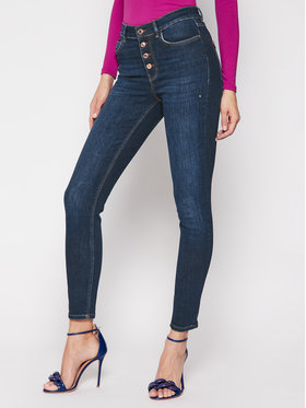 Guess Guess Džinsai Skinny Fit 1981 Exposed Button W1RA28 D4AK1 Tamsiai mėlyna Skinny Fit
