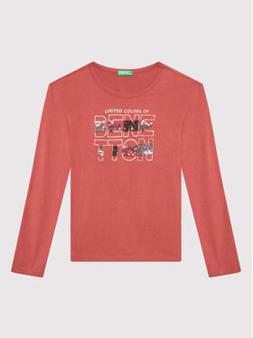 United Colors Of Benetton United Colors Of Benetton Bluse 3EG9C15FY Rot Regular Fit