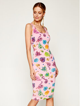 Versace Jeans Couture Versace Jeans Couture Letní šaty D2HVB439 Růžová Slim Fit