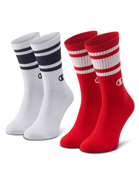 Champion Champion Sada 2 párů pánských vysokých ponožek CH0008SU-9GG Bílá