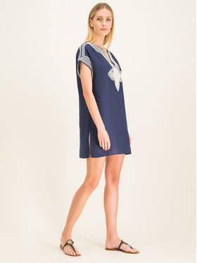 Tory Burch Tory Burch Tunika Solid Short 61634 Granatowy Regular Fit