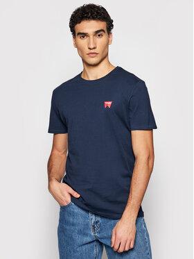 Wrangler Wrangler Marškinėliai Ss Sing Off Tee W7C07D335 Tamsiai mėlyna Regular Fit