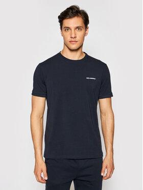 KARL LAGERFELD KARL LAGERFELD T-shirt Crewneck 755020 511221 Tamnoplava Regular Fit