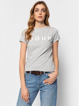 Hugo Hugo T-shirt 50411036 Gris Slim Fit