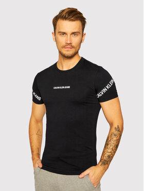 Calvin Klein Jeans Calvin Klein Jeans T-Shirt J30J316465 Černá Slim Fit