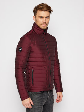 Superdry Superdry Vatovaná bunda Double Zip Fuji M5010206A Bordová Regular Fit