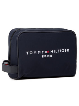 Tommy Hilfiger Tommy Hilfiger Geantă pentru cosmetice Th Established Washbag AM0AM07306 Bleumarin