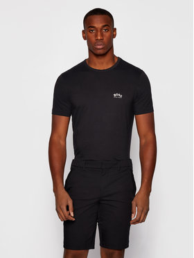 Boss Boss T-Shirt Curved 50412363 Černá Regular Fit