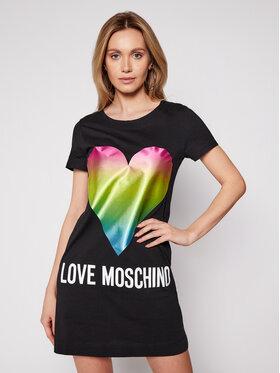 LOVE MOSCHINO LOVE MOSCHINO Každodenní šaty W592914M 3876 Černá Regular Fit