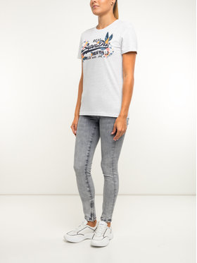Superdry Superdry T-Shirt W1000047A Szary Regular Fit