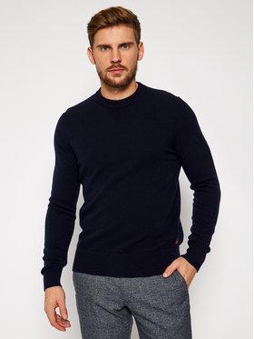 Woolrich Woolrich Pullover Supergeelong Logo CFWOKN0073MR UF0469 Dunkelblau Regular Fit