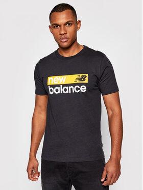 New Balance New Balance Marškinėliai Classic Core Graphic MT03917 Juoda Athletic Fit