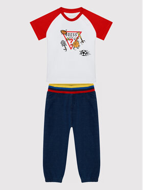 Guess Guess Ensemble T-shirt et pantalon I1Y603 K8HM0 Bleu marine Regular Fit