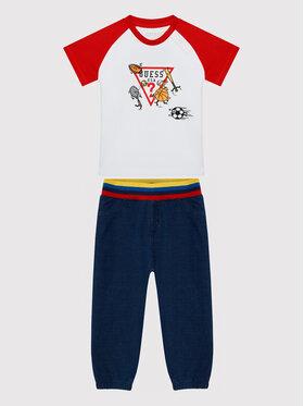 Guess Guess Set tricou și pantaloni I1Y603 K8HM0 Bleumarin Regular Fit