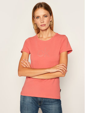 Calvin Klein Calvin Klein T-Shirt Stud Logo K20K202155 Różowy Regular Fit